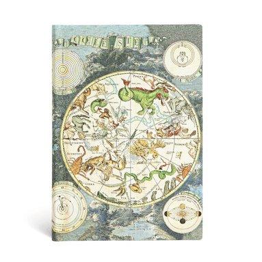 Anteckningsbok Paperblanks Flexi Mini linjerad - Celestial Planisphere