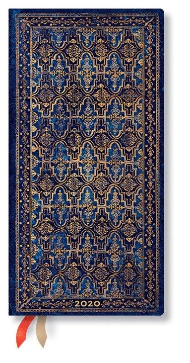 Kalender 2020 Paperblanks Slim Blue Rhine