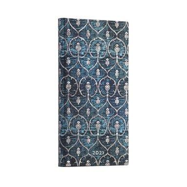 Kalender 2021 Paperblanks Slim Blue Velvet 1
