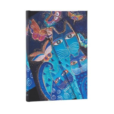 Kalender 2021 Paperblanks Midi Blue Cats & Butterflies 1