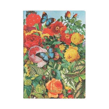 Kalender 2021-2022 18 månader Flexi Midi - Butterfly Garden 1