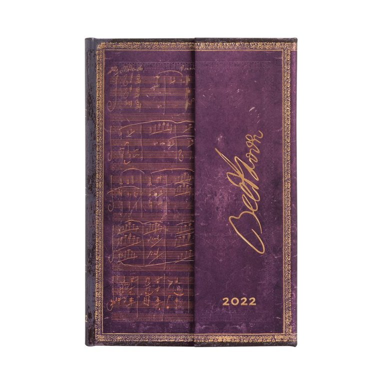 Kalender 2022 Paperblanks Mini - Beethoven Violin Sonata No. 10 Mini 1