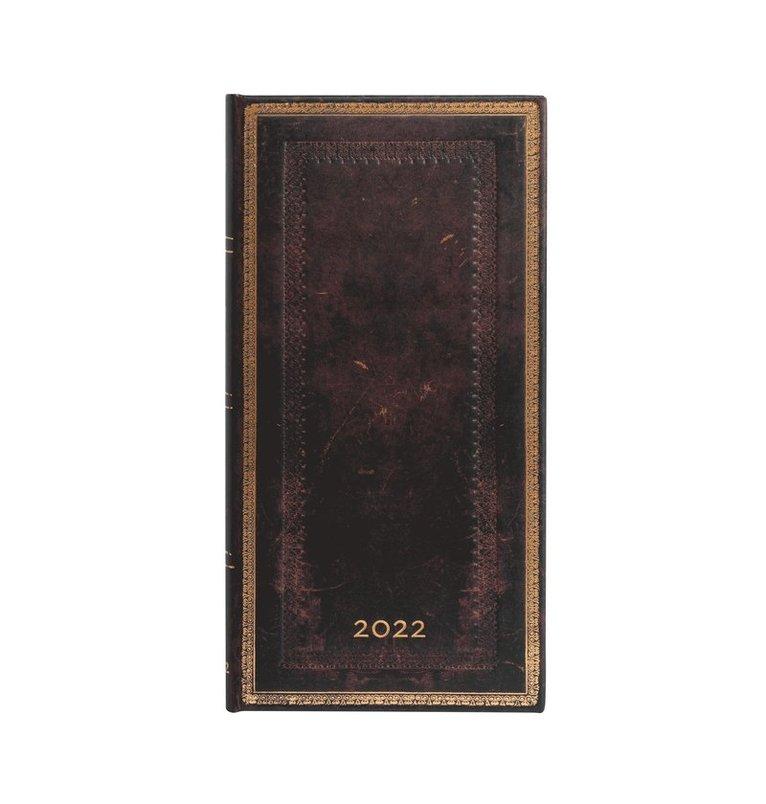 Kalender 2022 Paperblanks Slim - Black Moroccan 1