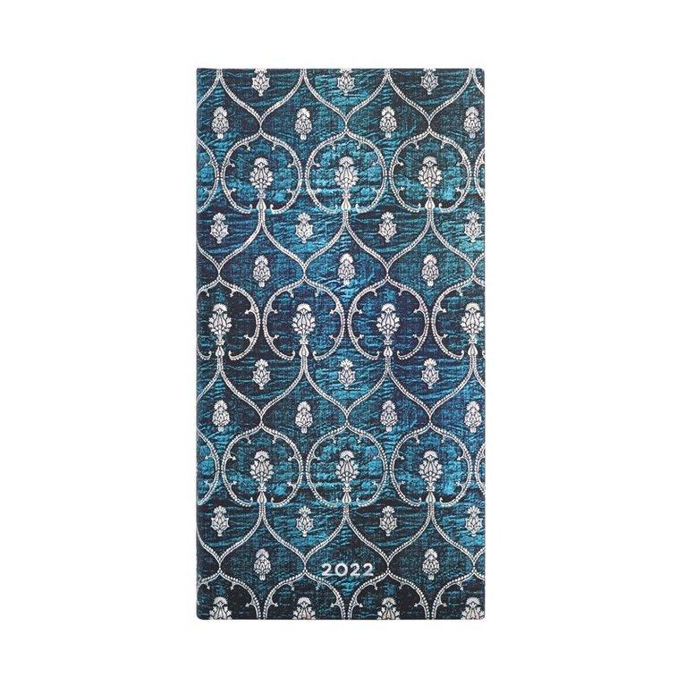 Kalender 2022 Paperblanks Slim - Blue Velvet 1