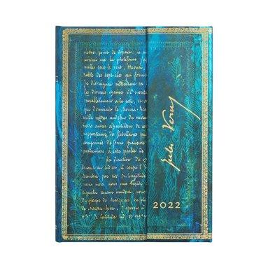 Kalender 2022 Paperblanks Midi - Jules Verne :  Twenty Thousand Leagues 1
