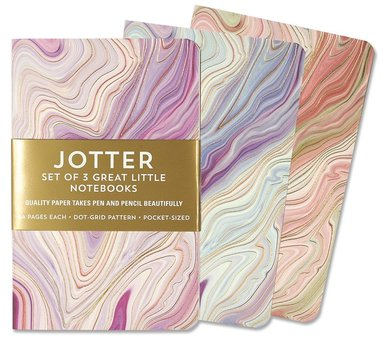Anteckningsbok A6 prickad 3-pack Marble Jotter 1