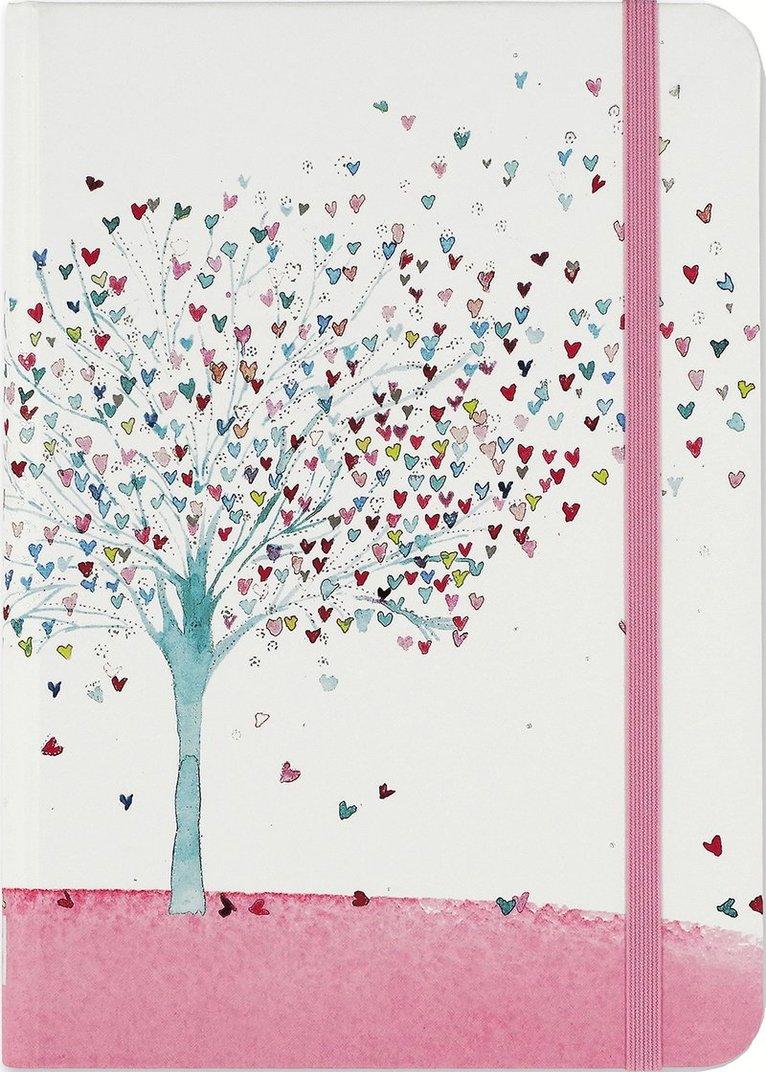 Anteckningsbok 18x13cm linjerad Tree of Hearts 1