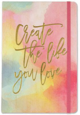 "Anteckningsbok 21x14cm Bullet Journal - Watercolor Sunset ""Create the life you love''"