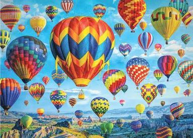 Pussel 1000 bitar Balloons In Flight