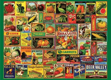 Pussel 1000 bitar Vintage Seed Packets