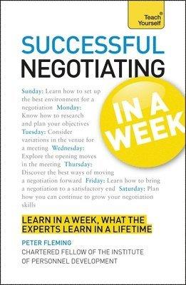 bokomslag Negotiation skills in a week - brilliant negotiating in seven simple steps
