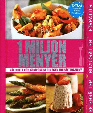 bokomslag 1 miljon menyer : välj fritt och komponera din egen trerättersmeny