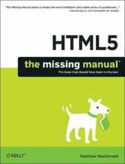 bokomslag HTML5: The Missing Manual