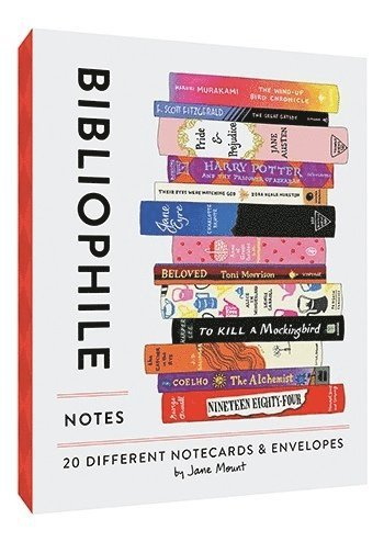 Kortbox Bibliophile Notes 20 kort & kuvert