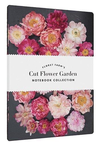 Anteckningsbok olinjerad mjuk pärm Floret Farm's Cut Flower Garden 3-pack