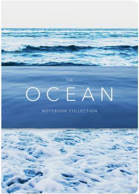 Anteckningsbok 21x15cm linjerad 3-pack The Ocean