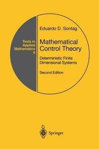 bokomslag Mathematical Control Theory: Deterministic Finite Dimensional Systems