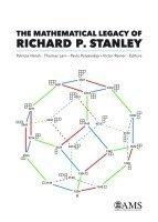 bokomslag The Mathematical Legacy of Richard P. Stanley