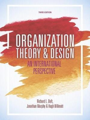 bokomslag Organization Theory and Design