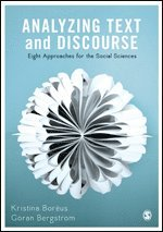 bokomslag Analyzing text and discourse - eight approaches for the social sciences