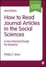 bokomslag How to Read Journal Articles in the Social Sciences