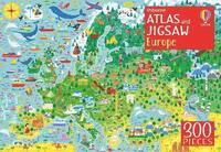 bokomslag Usborne Atlas and Jigsaw Europe