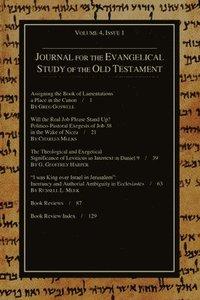 bokomslag Journal for the Evangelical Study of the Old Testament, 4.1