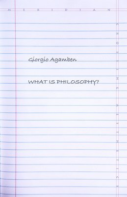 bokomslag What Is Philosophy?