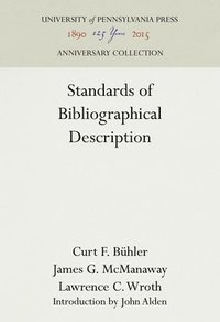 bokomslag Standards of Bibliographical Description