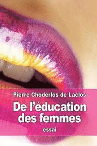 bokomslag De l'éducation des femmes