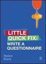 bokomslag Write a Questionnaire: Little Quick Fix