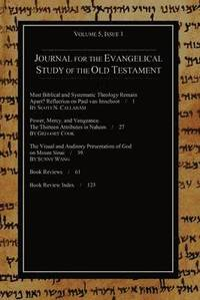 bokomslag Journal for the Evangelical Study of the Old Testament, 5.1