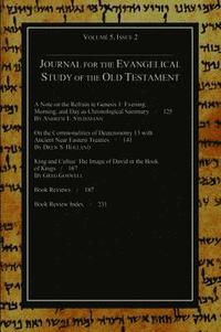 bokomslag Journal for the Evangelical Study of the Old Testament, 5.2