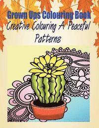 bokomslag Grown Ups Colouring Book Creative Colouring a Peaceful Patterns Mandalas