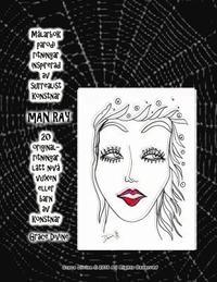 bokomslag Målarbok parodi ritningar inspirerad av surrealist konstnär Man Ray 20 original- ritningar lätt nivå vuxen eller barn av konstnär Grace Divine