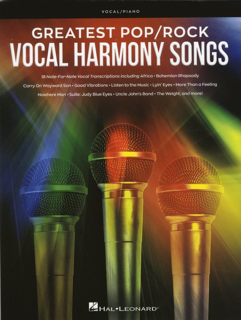 Greatest pop/rock Vocal Harmony Songs 1