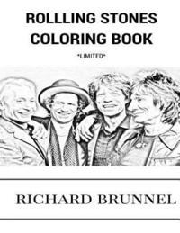 bokomslag Rolling Stones Coloring Book: English Blue Masters and Rock and Roll Legends Mick Jagger and Keith Richards Inspired Adult Coloring Book
