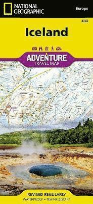 bokomslag Iceland Adventure Travel Map