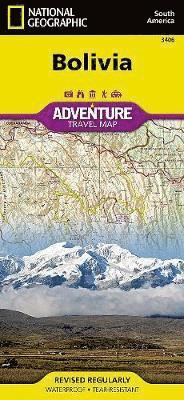 Bolivia Adventure Travel Map