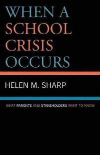 bokomslag When a School Crisis Occurs