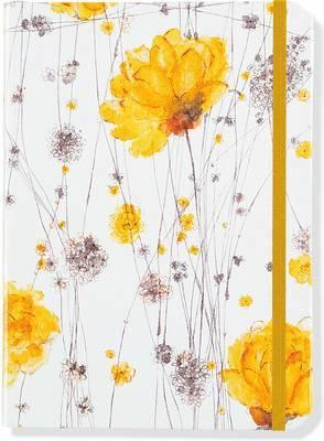 Anteckningsbok A5 linjerad mjuk Yellow Flowers