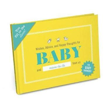 bokomslag Wishes, advice, and happy thoughts for baby fill in the love journal