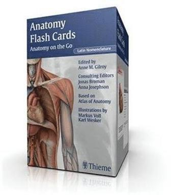 bokomslag Anatomy Flash Cards: Anatomy on the Go, Latin Nomenclature