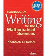bokomslag Handbook of Writing for the Mathematical Sciences