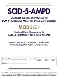 bokomslag Structured Clinical Interview for the DSM-5 (R) Alternative Model for Personality Disorders (SCID-5-AMPD) Module I