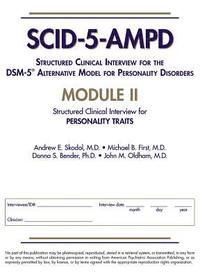bokomslag Structured Clinical Interview for the DSM-5 (R) Alternative Model for Personality Disorders (SCID-5-AMPD) Module II