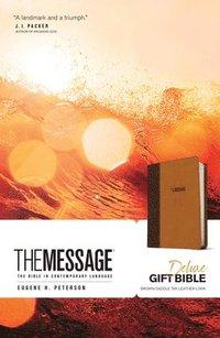 bokomslag Message Deluxe Gift Bible, Brown