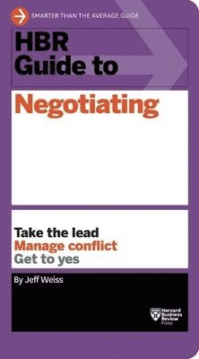 bokomslag Hbr guide to negotiating (hbr guide series)