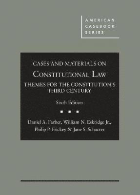 bokomslag Cases and Materials on Constitutional Law