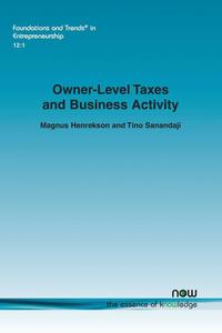 bokomslag Owner-Level Taxes and Business Activity